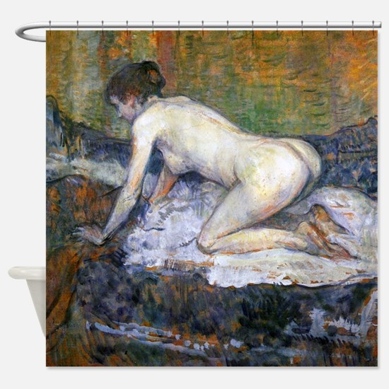 Toulouse-Lautrec Woman Naked Shower Curtain