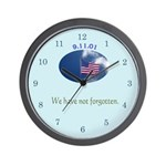 9-11 We Have Not Forgotten Wall Clock