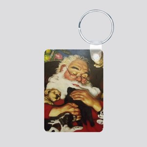 Santa Clause Aluminum Photo Keychain