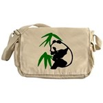Single Panda Messenger Bag