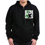 Single Panda Zip Hoodie (dark)