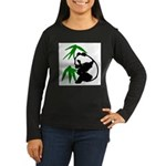 Single Panda Women's Long Sleeve Dark T-Shirt
