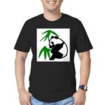 Single Panda Men's Fitted T-Shirt (dark)