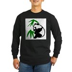Single Panda Long Sleeve Dark T-Shirt