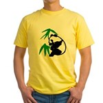 Single Panda Yellow T-Shirt