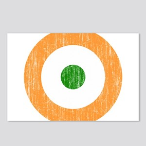 India Roundel Aged.png Postcards (Package of 8)