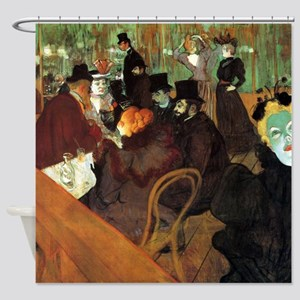 Toulouse-Lautrec At the Moulin Rouge Shower Curtai
