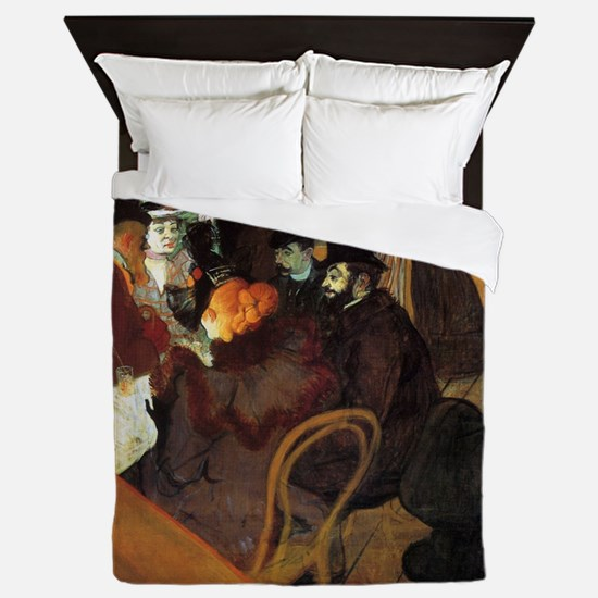 Toulouse-Lautrec At the Moulin Rouge Queen Duvet