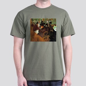 Toulouse-Lautrec At the Moulin Rouge Dark T-Shirt