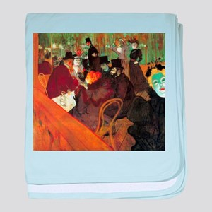 Toulouse-Lautrec At the Moulin Rouge baby blanket