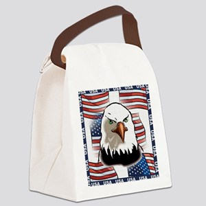 new eagle flag collage frame1 Canvas Lunch Bag