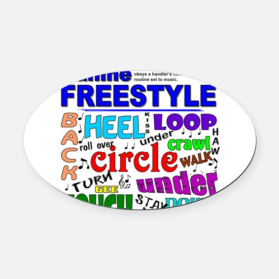 3-1new freestyle sq.png Oval Car Magnet