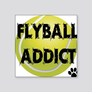 "flyball-1 flat Square Sticker 3"" x 3"""