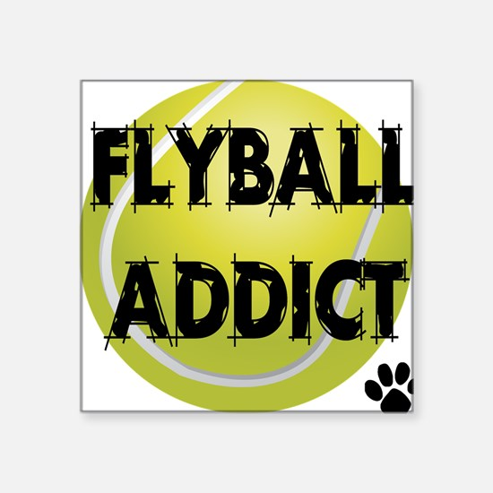 """flyball-1 flat.png Square Sticker 3"""" x 3"""""""