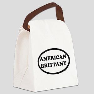 aMERICAN BRITTANY SHIRT dark Canvas Lunch Bag