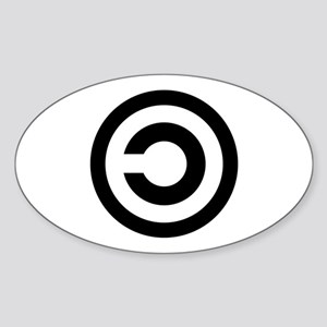 Copyleft (Anti-Copyright) Oval Sticker