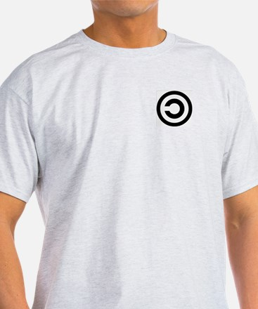 Copyleft (Anti-Copyright) Ash Grey T-Shirt