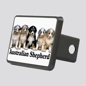 aussie pups with breed Rectangular Hitch Cover
