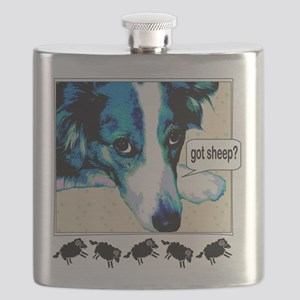 border collie got sheep2a Flask