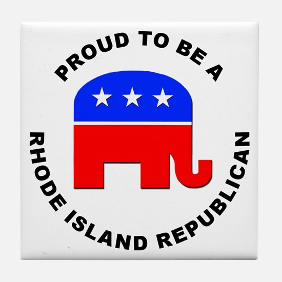 Rhode Island Republican Pride Tile Coaster