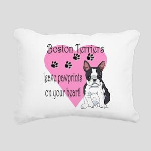 boston terriers paw prints2 Rectangular Canvas