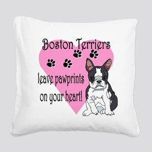 boston terriers paw prints2 Square Canvas Pill