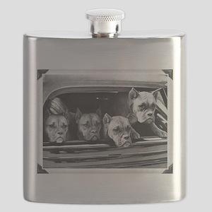 boxer vintage photo corrected frame1 Flask