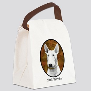 bull terrier oval new breed Canvas Lunch Bag