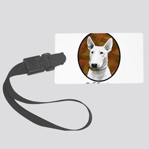 bull terrier oval new breed Large Luggage Tag