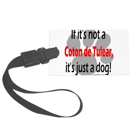 not coton Large Luggage Tag
