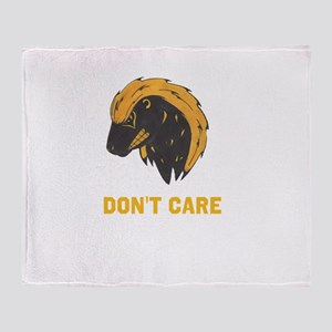 DONT CARE Throw Blanket