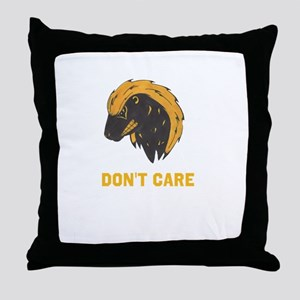 DONT CARE Throw Pillow