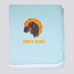 DONT CARE baby blanket