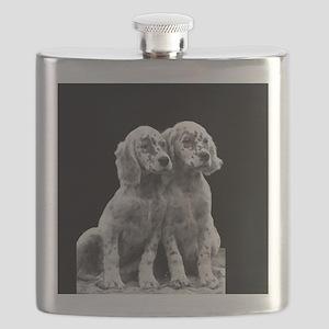 English Setter Pups-2 Flask