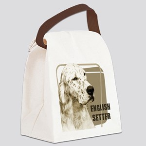 english setter head black Canvas Lunch Bag