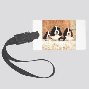springer pups2 sq Large Luggage Tag