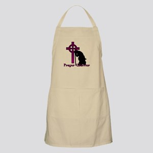 Prayer Knight Purple Apron