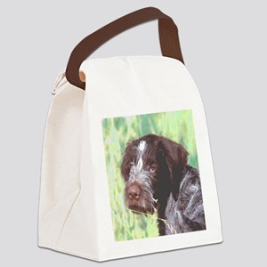 german wirehaired sq 2 watercolor Canvas Lunch