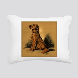 Golden Retriever - 1 Rectangular Canvas Pillow