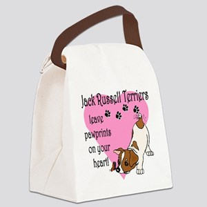 jack russell paw prints Canvas Lunch Bag