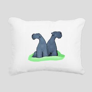 Kerry Blue Terrier Pair Rectangular Canvas Pillow