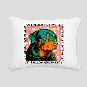 rottie sq Rectangular Canvas Pillow