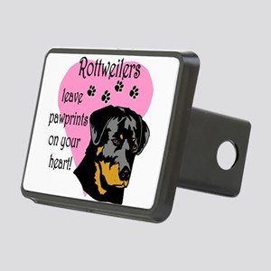 rottweilers paw prints Rectangular Hitch Cover