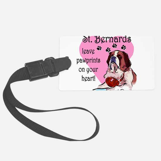 St. Bernards pawprints.png Luggage Tag