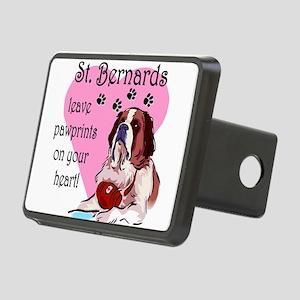 St. Bernards pawprints Rectangular Hitch Cover