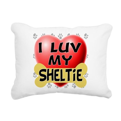 sheltie luv4.png Rectangular Canvas Pillow