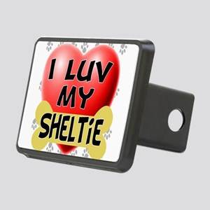 sheltie luv4 Rectangular Hitch Cover