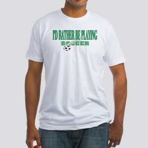Playing Soccer Fitted T-Shirt