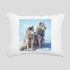 huskies1 Rectangular Canvas Pillow