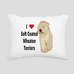 I heart wheaten1 new Rectangular Canvas Pillow